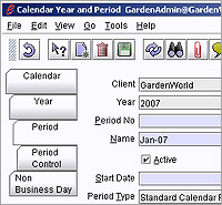 ERP software demo - Open or Close Calendar Periods